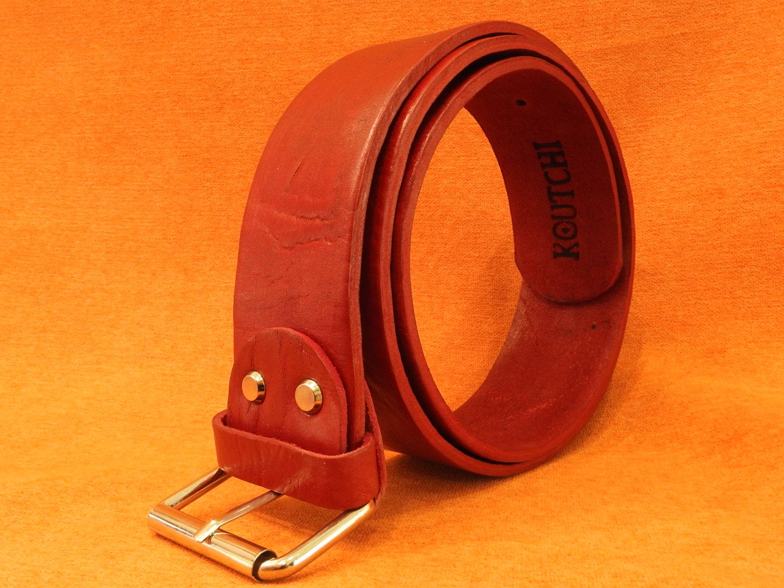 KOUTCHI Design Belt-Red Poppies