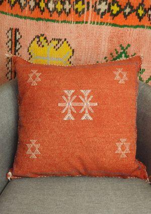 Moroccan cactus silk cushions